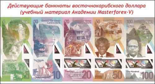 Банкноты восточно-карибского доллара