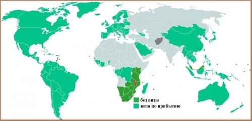 Визовый режим Малави