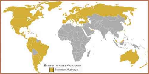 Визовая политика Черногории