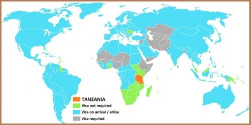 Визовый режим Танзании