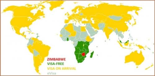 Визовый режим Зимбабве