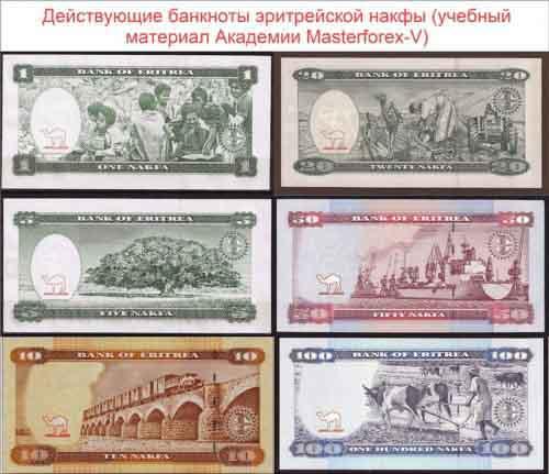 Банкноты эритрейской накфы