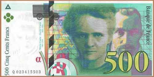 500 франков Франции