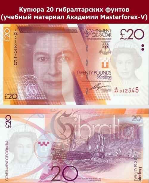 Банкнота 20 фунтов