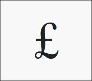 Символ (знак) фунта