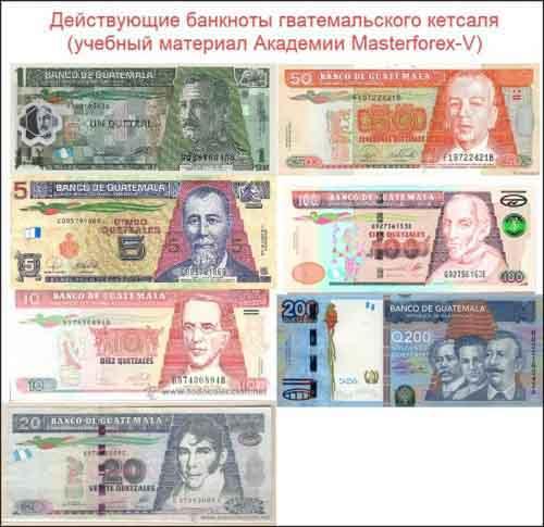 Банкноты гватемальского кетсаля