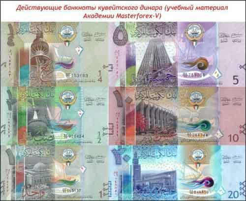 Банкноты кувейтского динара