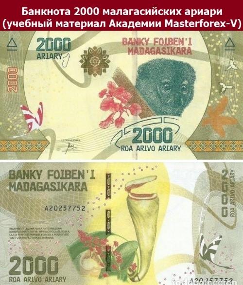 Купюра 2000 малагасийских ариариа