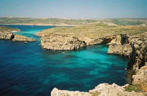 Голубая лагуна Комино, Мальта