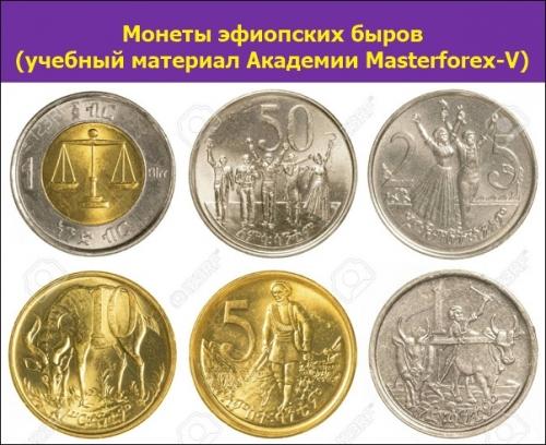 Номиналы монет Эфиопии