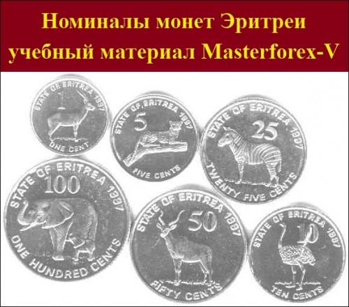 Номиналы монет Эритреи