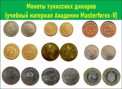 Номиналы монет Туниса