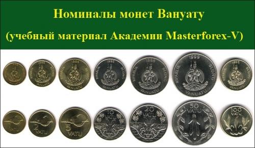 Номиналы монет Вануату