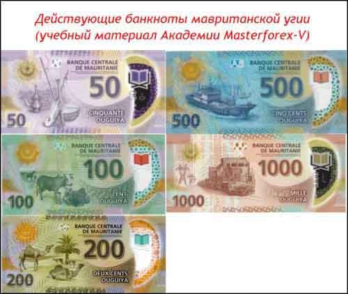 Банкноты мавританской угии