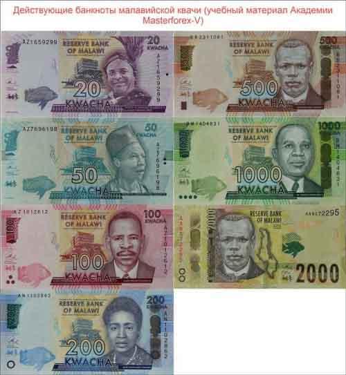 Банкноты малавийской квачи