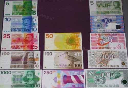 Банкноты нидерландских гульденов