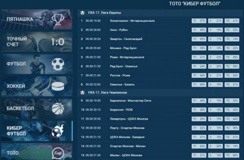 FIFA17 Лига Европы