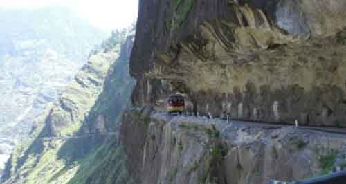 Горная дорога в Пакистане