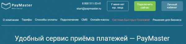 Способы приема платежей в Paymaster