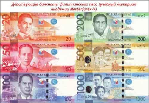Банкноты филиппинского песо