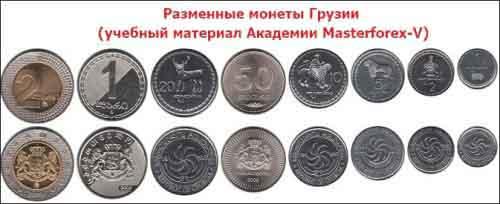 Разменные монеты Грузии
