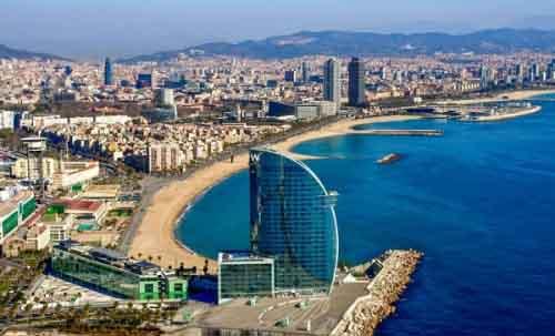 Вид на Барселону