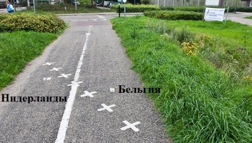 Барле, граница между Бельгией и Нидерландами