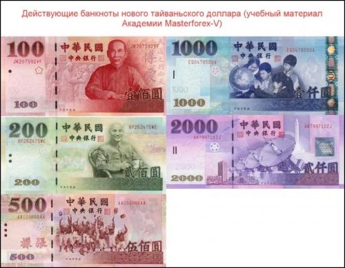 Банкноты нового тайваньского доллара