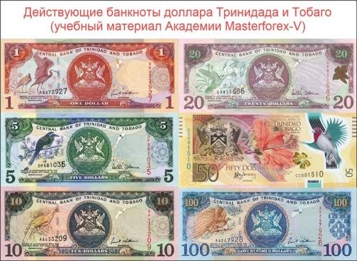 Банкноты доллара Тринидада и Тобаго