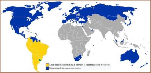 Визовый режим Уругвая