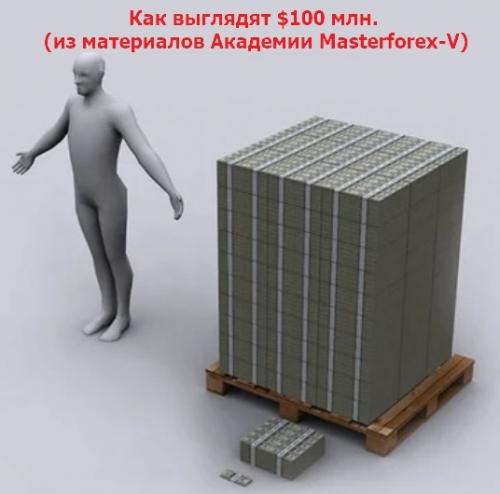Как выглядят 100 млн. долларо