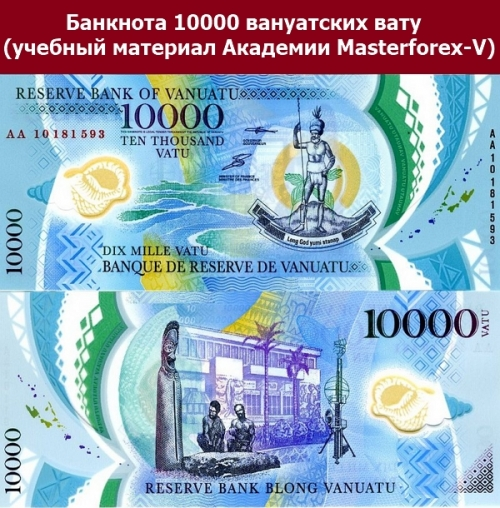 Банкнота 10000 вануатских вату