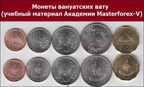 Монеты вануатского вату