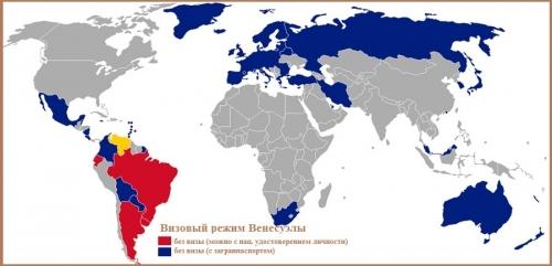 Визовый режим ВенесуэлыВизовый режим Венесуэлы