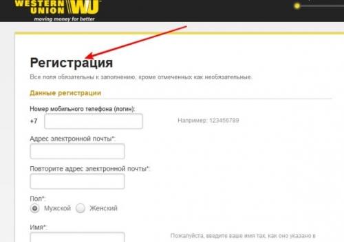 Виды денежных переводов Western Union