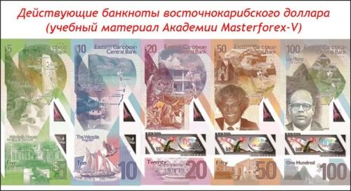 Банкноты восточнокарибского доллара